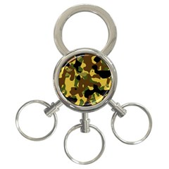 Camo Pattern  3 Ring Key Chain by Colorfulart23
