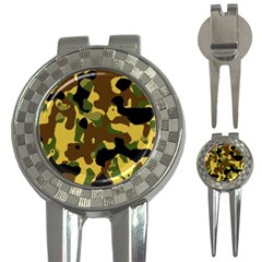 Camo Pattern  Golf Pitchfork & Ball Marker by Colorfulart23