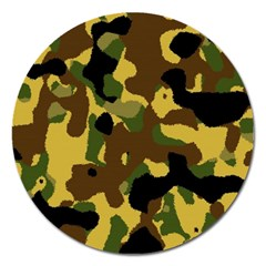 Camo Pattern  Magnet 5  (round) by Colorfulart23