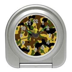 Camo Pattern  Desk Alarm Clock by Colorfulart23