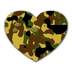 Camo Pattern  Mouse Pad (heart) by Colorfulart23
