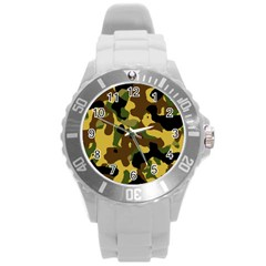 Camo Pattern  Plastic Sport Watch (large) by Colorfulart23