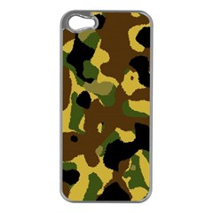Camo Pattern  Apple Iphone 5 Case (silver) by Colorfulart23