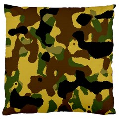 Camo Pattern  Large Flano Cushion Case (one Side) by Colorfulart23