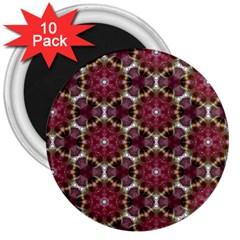 Cute Pretty Elegant Pattern 3  Button Magnet (10 Pack) by creativemom