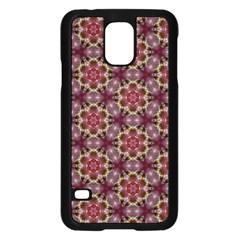 Cute Pretty Elegant Pattern Samsung Galaxy S5 Case (black) by creativemom
