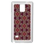 Cute Pretty Elegant Pattern Samsung Galaxy Note 4 Case (White) Front