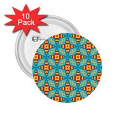 Cute Pretty Elegant Pattern 2 25  Button (10 Pack) by creativemom