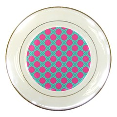 Cute Pretty Elegant Pattern Porcelain Display Plate by creativemom