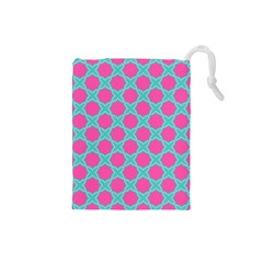Cute Pretty Elegant Pattern Drawstring Pouch (small) by creativemom