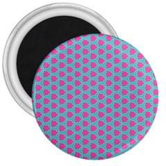 Cute Pretty Elegant Pattern 3  Button Magnet by creativemom