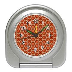 Cute Pretty Elegant Pattern Desk Alarm Clock by creativemom
