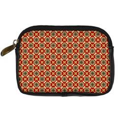 Cute Pretty Elegant Pattern Digital Camera Leather Case by creativemom