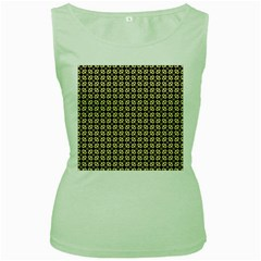 Cute Pretty Elegant Pattern Women s Tank Top (green) by creativemom
