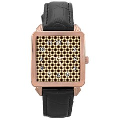 Cute Pretty Elegant Pattern Rose Gold Leather Watch  by creativemom