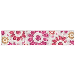 Floral Print Collage Pink Flano Scarf (small) by dflcprintsclothing
