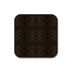 Futuristic Geometric Design Drink Coaster (square) by dflcprints
