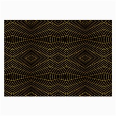 Futuristic Geometric Design Glasses Cloth (large, Two Sided) by dflcprints