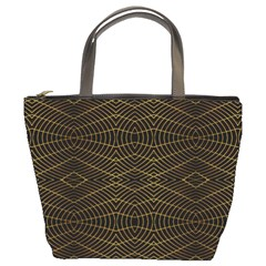 Futuristic Geometric Design Bucket Handbag by dflcprints