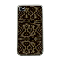 Futuristic Geometric Design Apple Iphone 4 Case (clear) by dflcprints