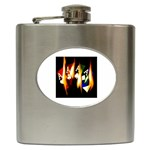 Quad Flaming Aces - Hip Flask (6 oz)