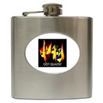 Got Quads Flaming Aces - Hip Flask (6 oz)