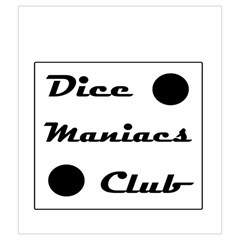 Dice Maniacs Club Bag #1 By Kevin Cook   Drawstring Pouch (medium)   1nqm2xy31z3v   Www Artscow Com Front