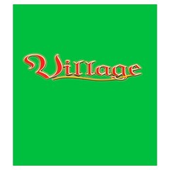 Village Green Bag By Mason Weaver   Drawstring Pouch (medium)   2q58fqs6qrst   Www Artscow Com Front