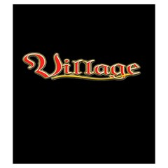 Village Black Bag By Mason Weaver   Drawstring Pouch (medium)   Hw0g763ffb89   Www Artscow Com Front