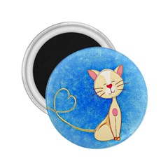 Cute Cat 2 25  Button Magnet by Colorfulart23