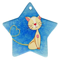 Cute Cat Star Ornament (two Sides) by Colorfulart23