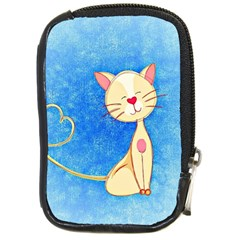 Cute Cat Compact Camera Leather Case by Colorfulart23