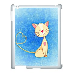Cute Cat Apple Ipad 3/4 Case (white) by Colorfulart23