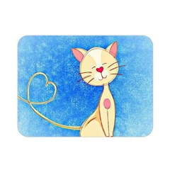 Cute Cat Double Sided Flano Blanket (mini) by Colorfulart23