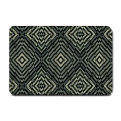 Geometric Futuristic Grunge Print Small Door Mat by dflcprints