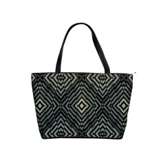 Geometric Futuristic Grunge Print Large Shoulder Bag by dflcprints