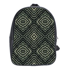 Geometric Futuristic Grunge Print School Bag (Large) by dflcprints