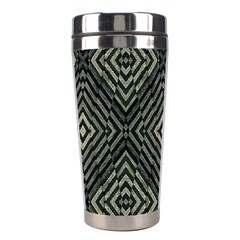 Geometric Futuristic Grunge Print Stainless Steel Travel Tumbler by dflcprints