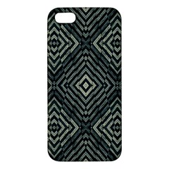 Geometric Futuristic Grunge Print Iphone 5s Premium Hardshell Case by dflcprints