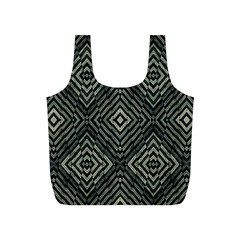 Geometric Futuristic Grunge Print Reusable Bag (s) by dflcprints