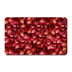 Warm Floral Collage Print Magnet (rectangular) by dflcprints