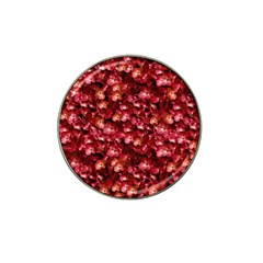 Warm Floral Collage Print Golf Ball Marker (for Hat Clip) by dflcprints