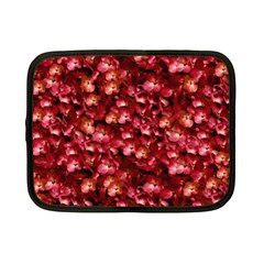 Warm Floral Collage Print Netbook Sleeve (small) by dflcprints