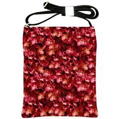 Warm Floral Collage Print Shoulder Sling Bag by dflcprints