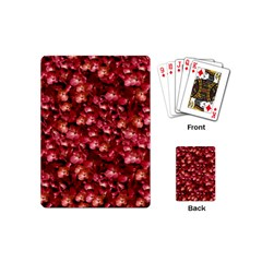 Warm Floral Collage Print Playing Cards (mini) by dflcprints