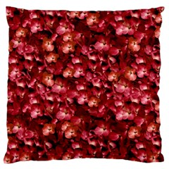 Warm Floral Collage Print Large Cushion Case (two Sided)  by dflcprints