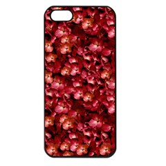 Warm Floral Collage Print Apple Iphone 5 Seamless Case (black) by dflcprints