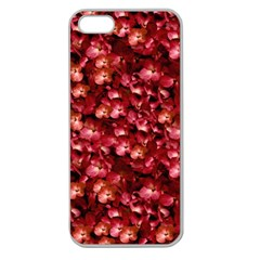 Warm Floral Collage Print Apple Seamless Iphone 5 Case (clear) by dflcprints
