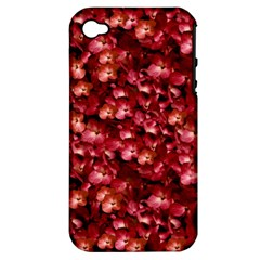 Warm Floral Collage Print Apple Iphone 4/4s Hardshell Case (pc+silicone) by dflcprints
