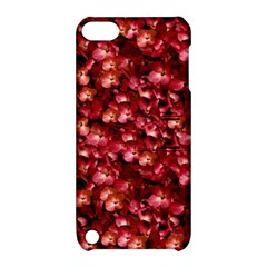 Warm Floral Collage Print Apple Ipod Touch 5 Hardshell Case With Stand by dflcprints